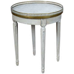 Louis XVI Marble Top Side Table