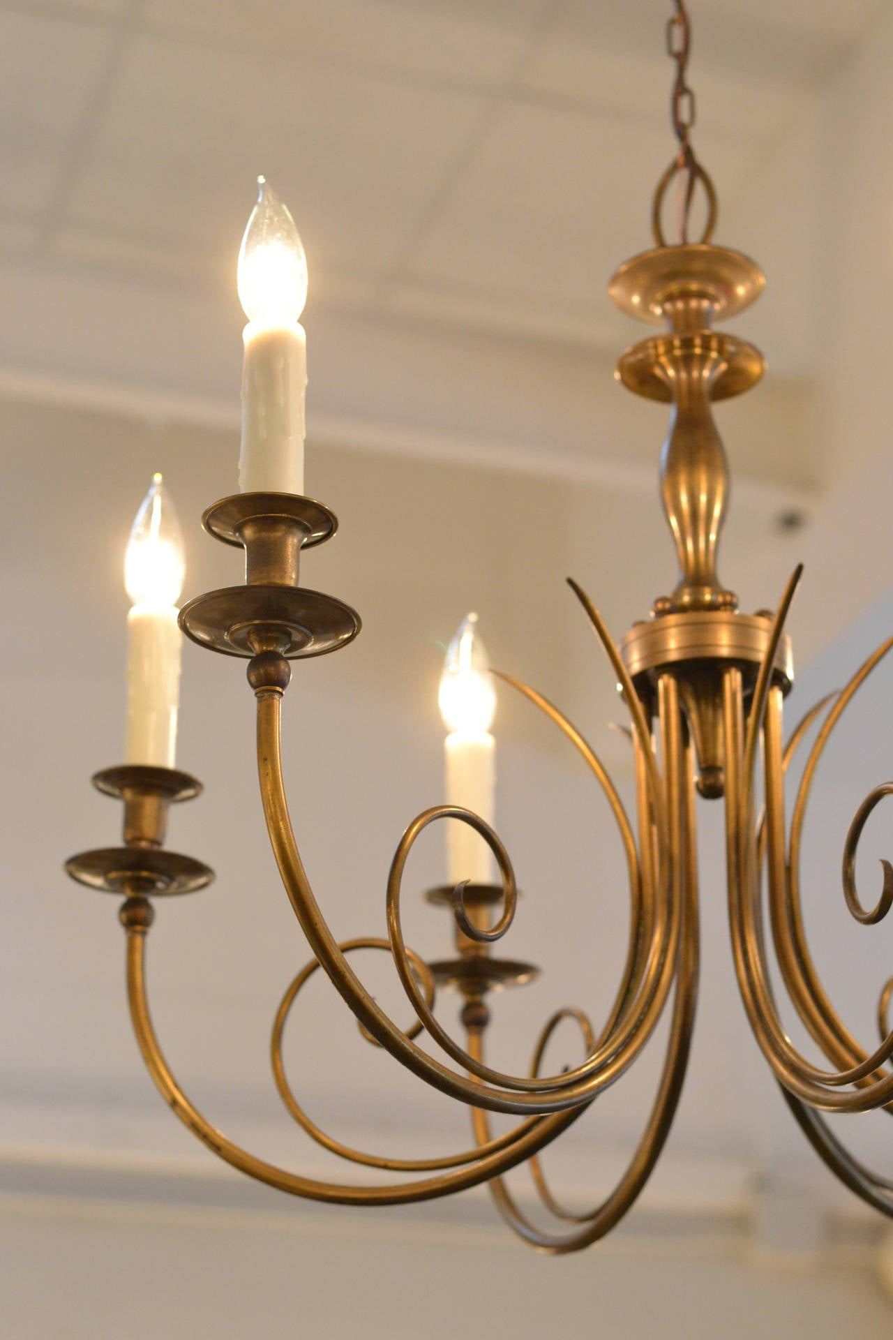 French Vintage Bronze Chandelier By Maison Jansen At 1stdibs