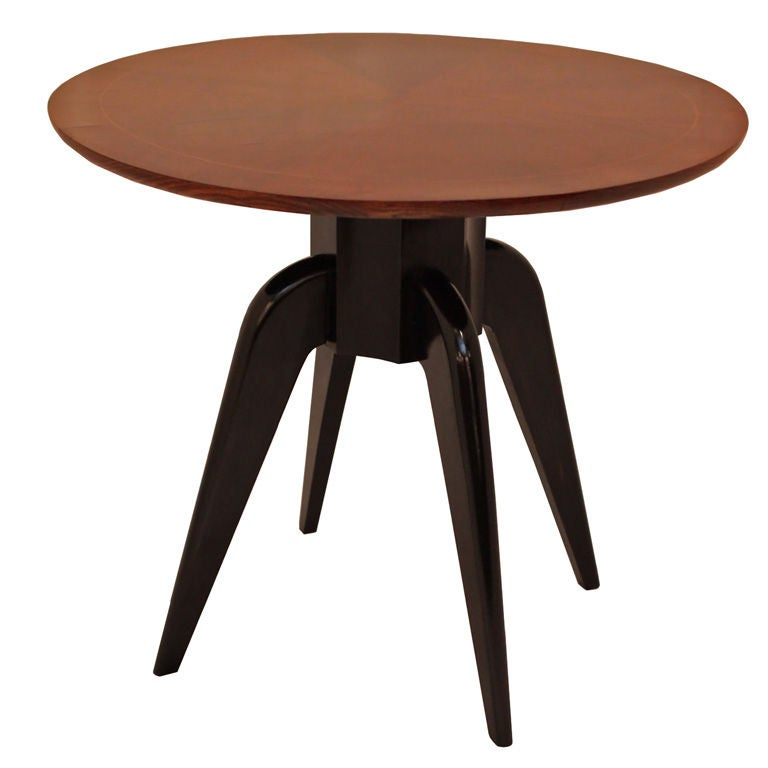 French vintage cocktail table in the spirit of jean prouve at 1stdibs - Jean prouve coffee table ...
