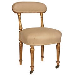 French Antique Gold Leafed Side Chair