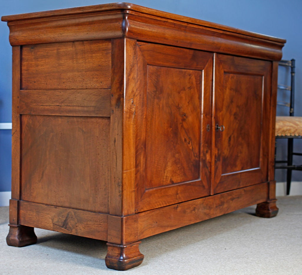 Solid Walnut Buffet ~ Period solid walnut buffet from france at stdibs