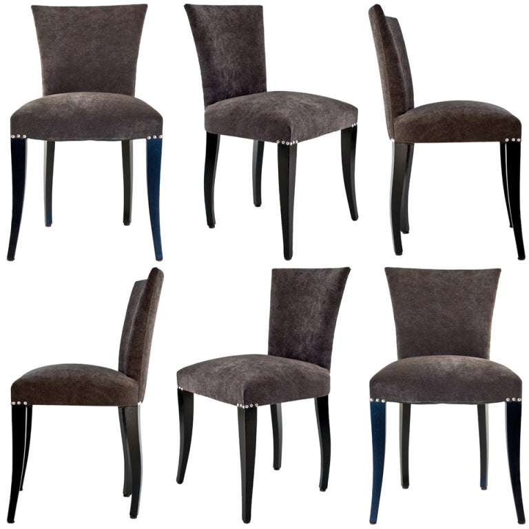 Set Of 6 Art Deco Dining Chairs At 1stdibs