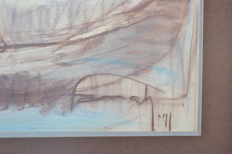 Farrah Fawcett Original Pastel Painting, Signed For Sale 1