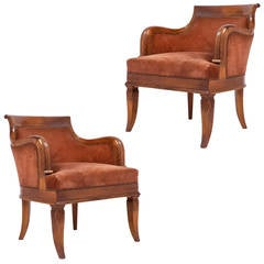"""French Restauration Pair of Armchairs """"a l'Etrusque"""""""