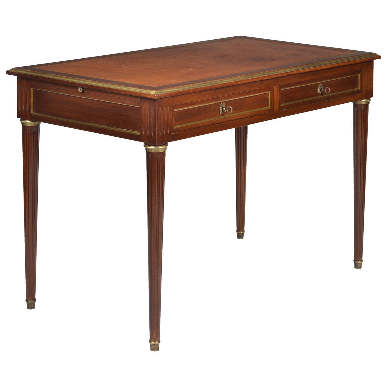 French Antique Louis Xvi Mahogany Writing Desk At 1stdibs