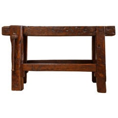 French Antique Carpenter's Workbench