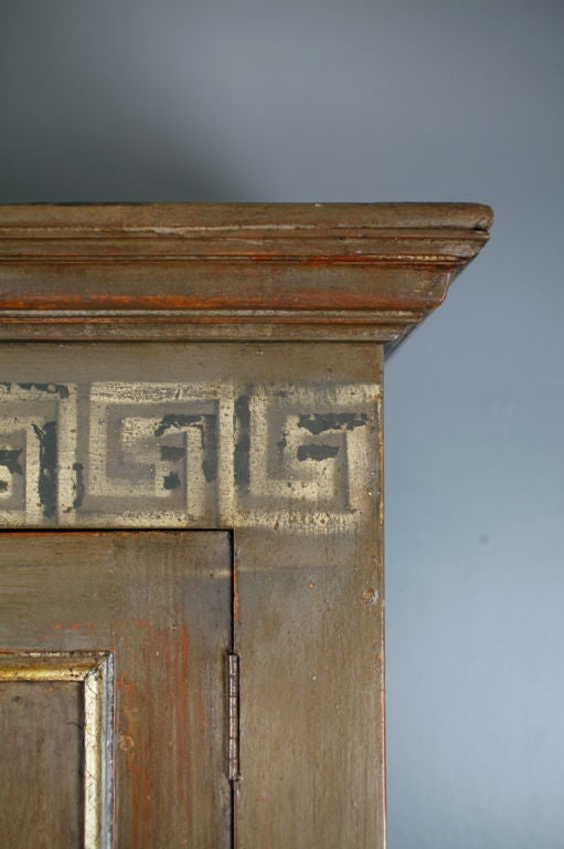 French Antique Greek Key Decor Armoire At 1stdibs