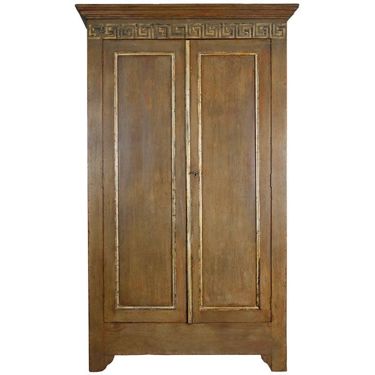 french antique greek key decor armoire at 1stdibs. Black Bedroom Furniture Sets. Home Design Ideas
