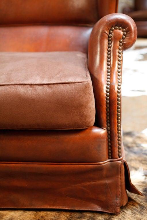 Italian Vintage Leather Sofa At 1stdibs