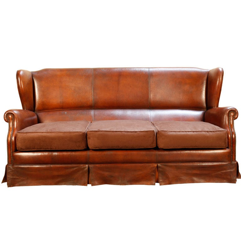 Italian vintage leather sofa at 1stdibs for Retro italian xxx