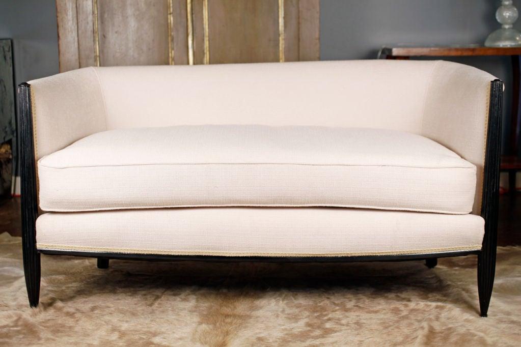 French jacques emile ruhlmann style art deco sofa image 3 for Art deco style sofa