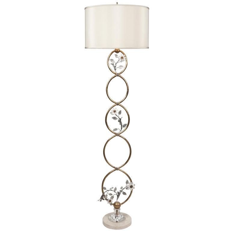 vintage bagues style brass floor lamp at 1stdibs. Black Bedroom Furniture Sets. Home Design Ideas