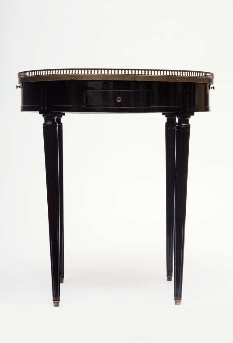 Louis Xvi Marble Top Bouillotte Table At 1stdibs
