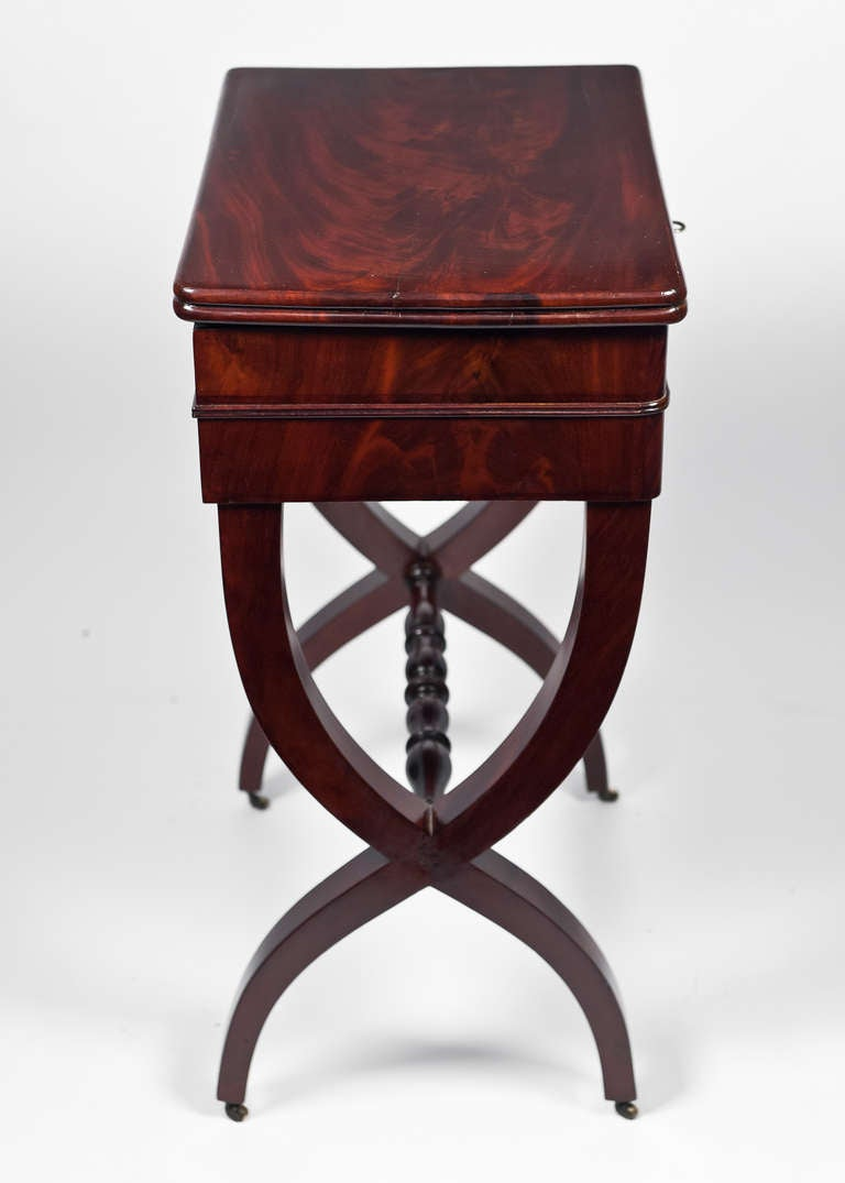 Charles X Cuban Mahogany Vanity With Curule Base At 1stdibs