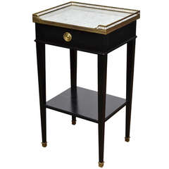 French Directoire Ebonized Mahogany Side Table