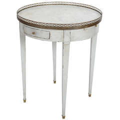 French Directoire Bouillotte Table with Grey/Blue Patina