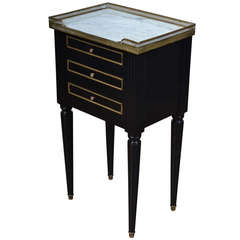 French Louis XVI Ebonized Side Table