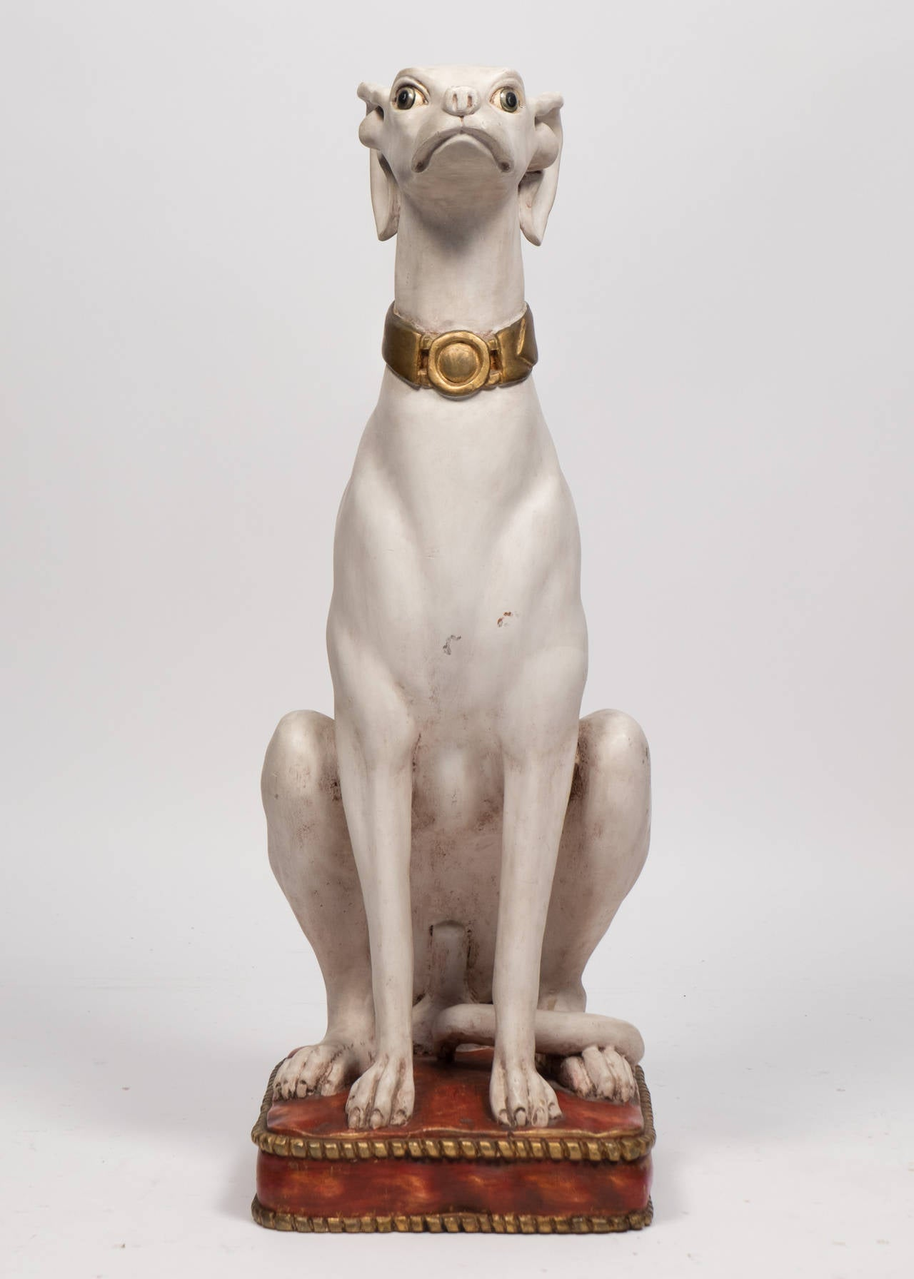 Italian Vintage Dog Statues At 1stdibs