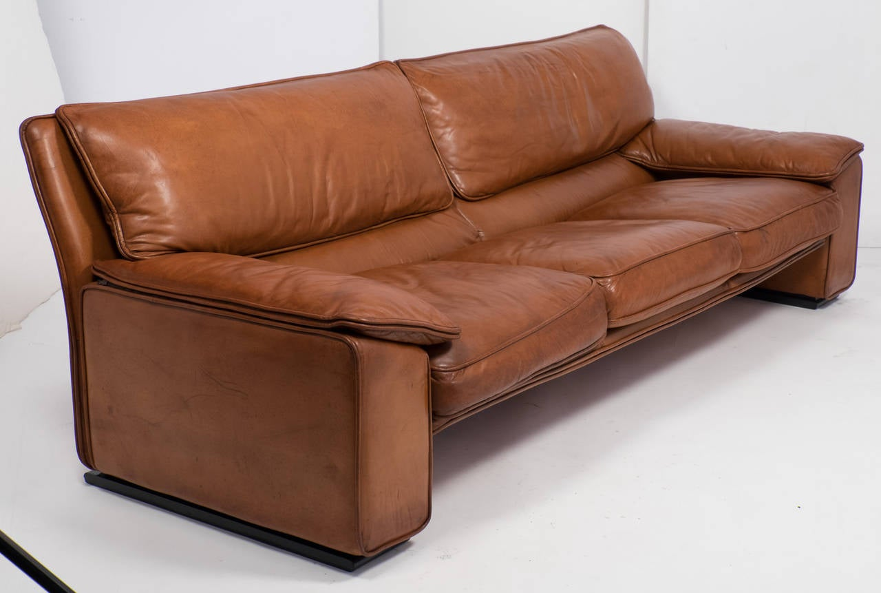 Fine Superb Italian Vintage Leather Sofa By Ferrucio Brunati At Gmtry Best Dining Table And Chair Ideas Images Gmtryco