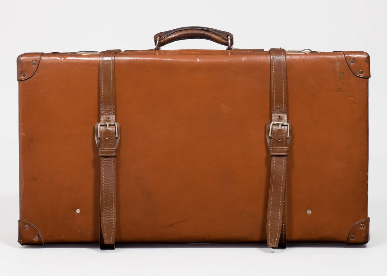 French vintage leather suitcase for sale at 1stdibs for The vintage suitcase