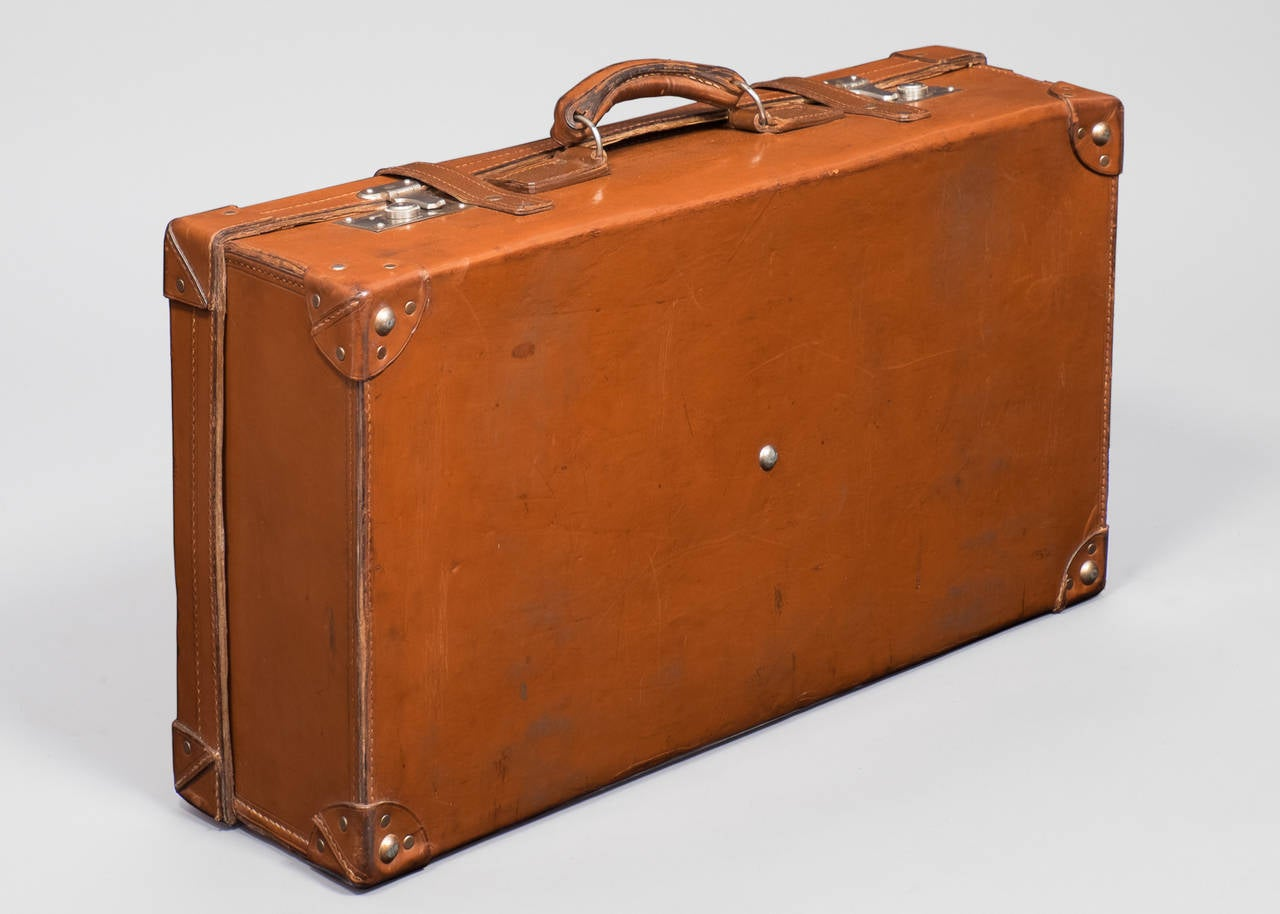French vintage leather suitcase for sale at 1stdibs for What to do with vintage suitcases