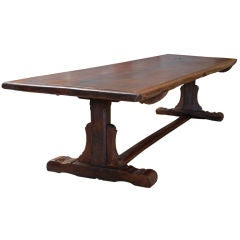 Portuguese Solid Walnut Farm Table