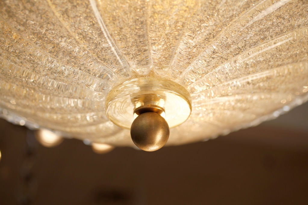 Murano Glass Ceiling Fixture For Sale 5
