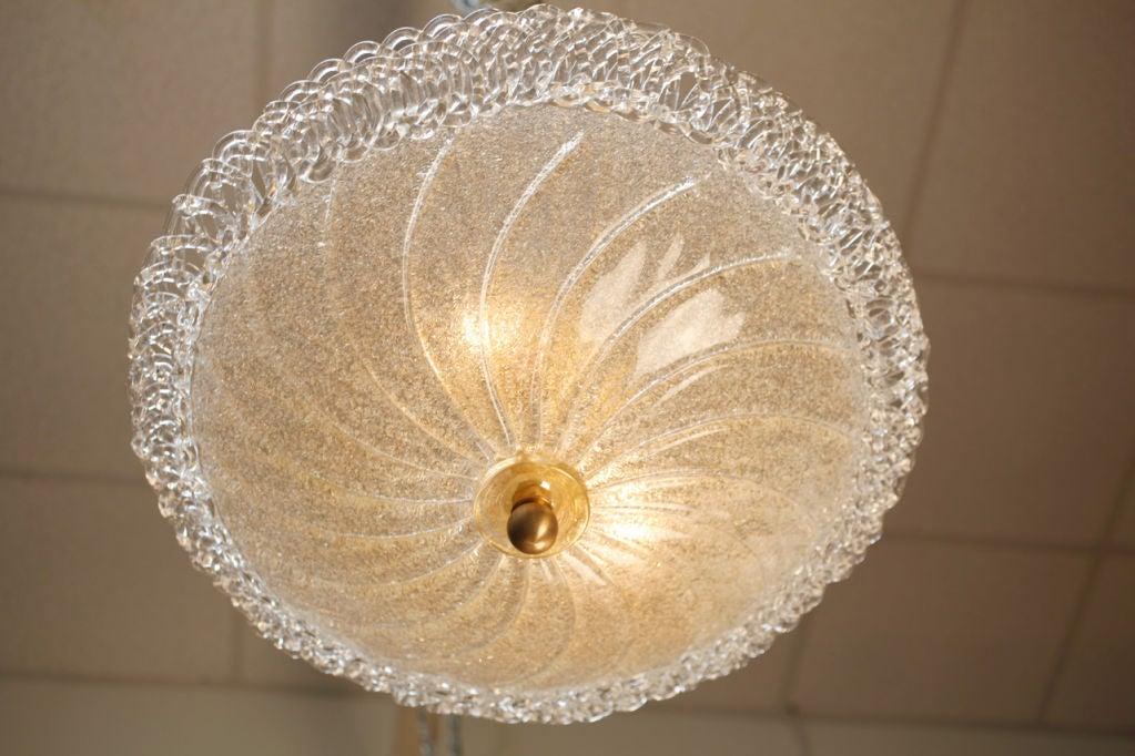 Italian Murano Glass Ceiling Fixture For Sale