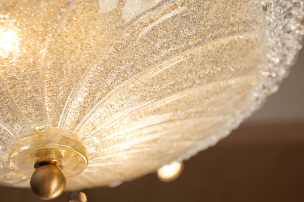 Murano Glass Ceiling Fixture In Excellent Condition For Sale In Austin, TX