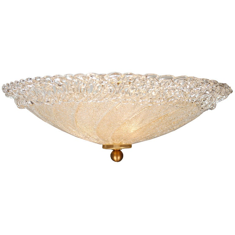 Murano Glass Ceiling Fixture For Sale