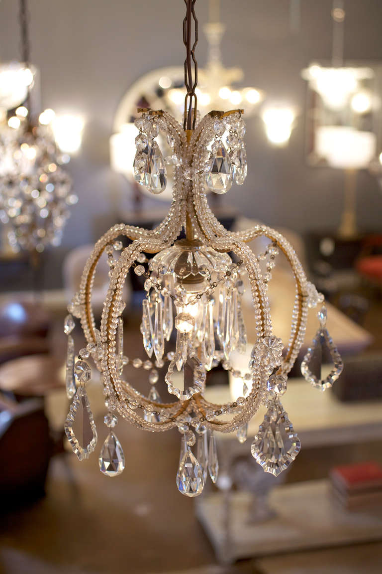 Italian Antique Genovese Crystal Chandelier Image 3