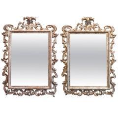 Pair of Italian Gold Leaf Mirrors