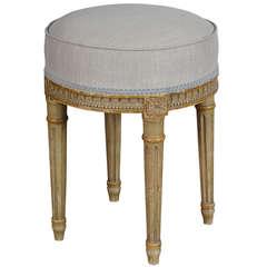 Louis XVI Upholstered Stool