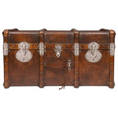 Vintage Travel Trunk in the Style of Vuitton