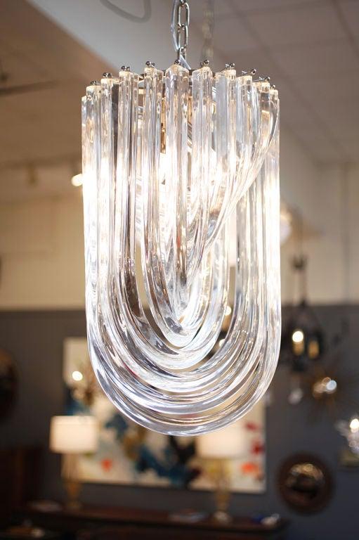 Vintage Murano Glass Tube Chandelier by Venini 3 - Vintage Murano Glass Tube Chandelier By Venini At 1stdibs