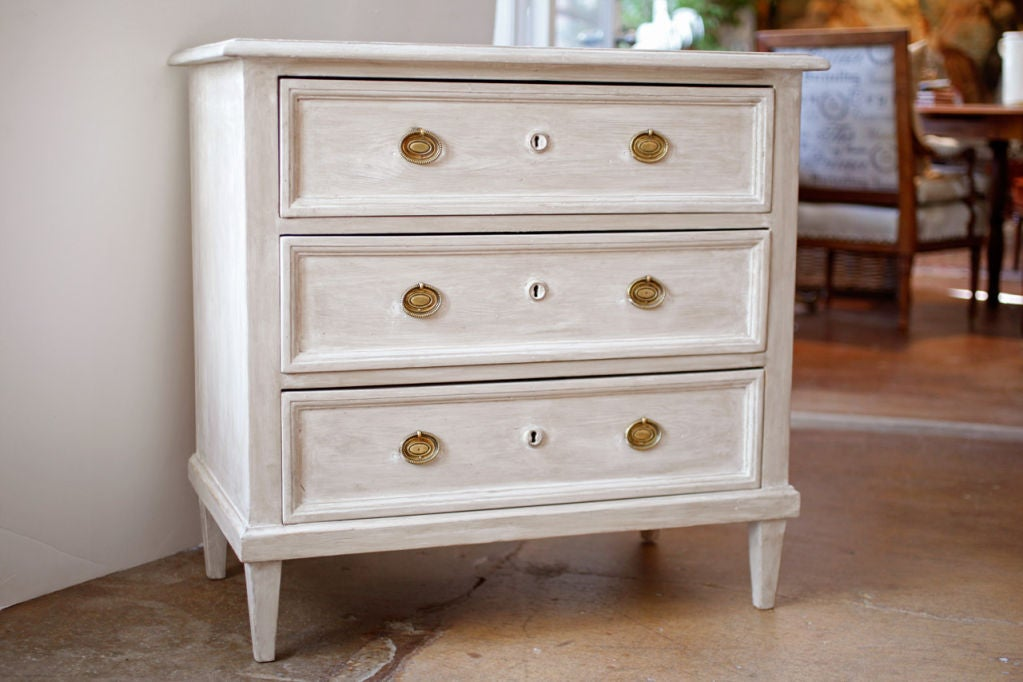 French directoire style hand painted chest of drawers at for Hand painted chests
