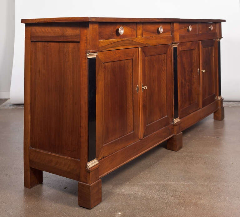 Solid Walnut Buffet ~ French directoire style solid walnut buffet at stdibs