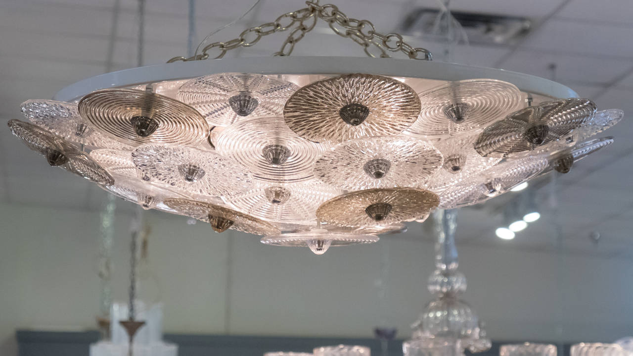 Murano Glass Ceiling Fixture in the Manner of Carlo Nason For Sale ...