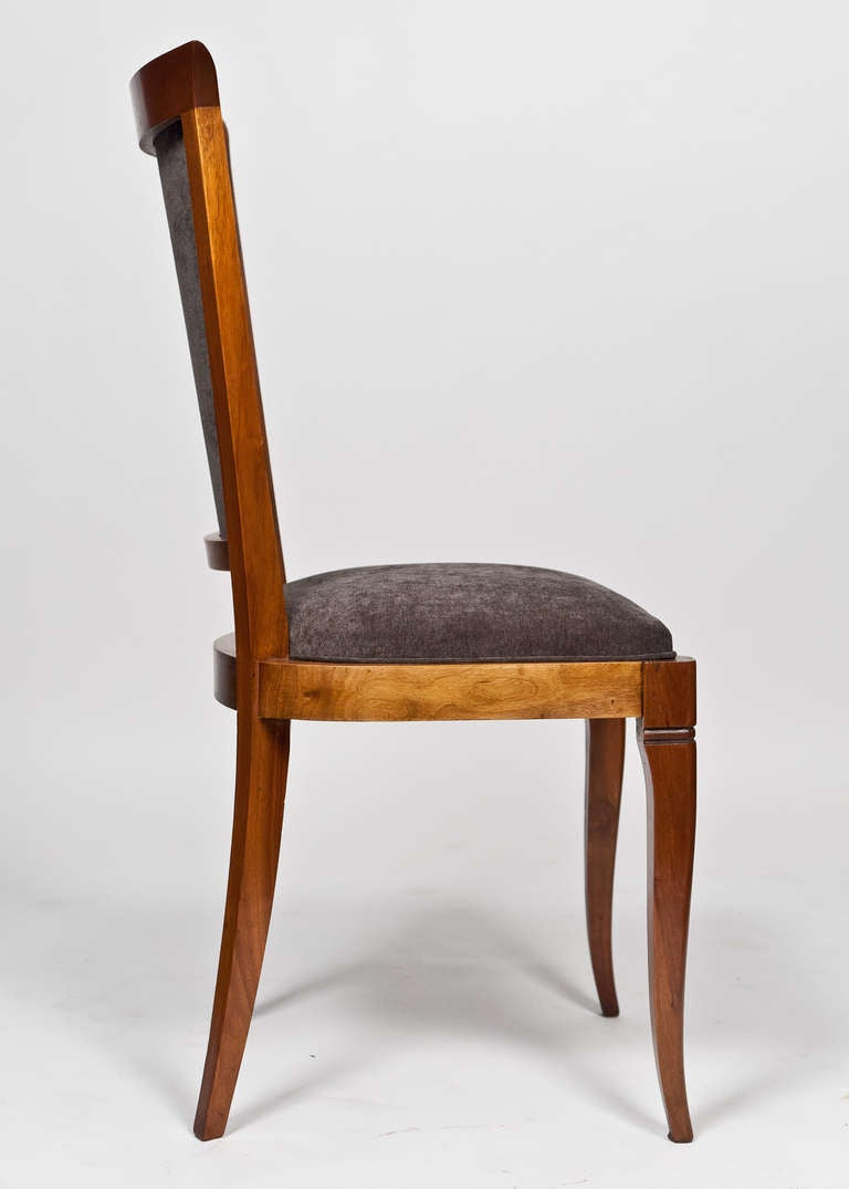 Set Of 6 French Art Deco Period Dining Chairs At 1stdibs