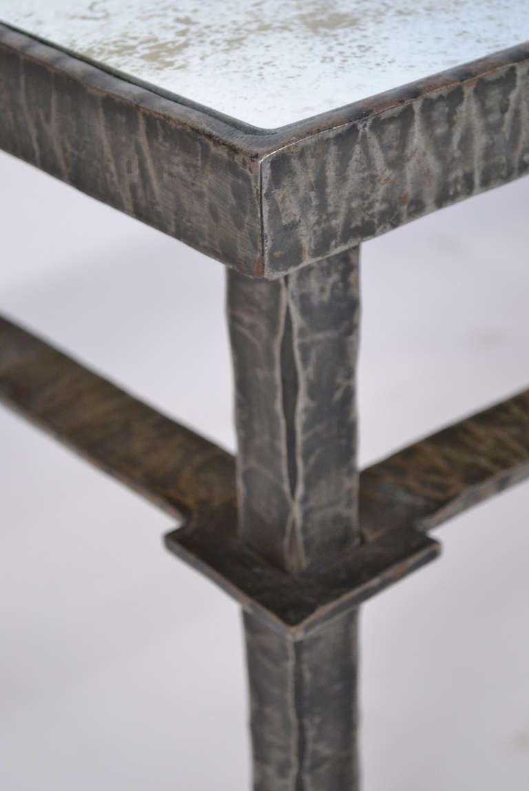 French vintage forged iron and bronze coffee table for sale at 1stdibs Bronze coffee tables