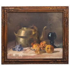 French 19th Century Still Life, Oil on Canvas