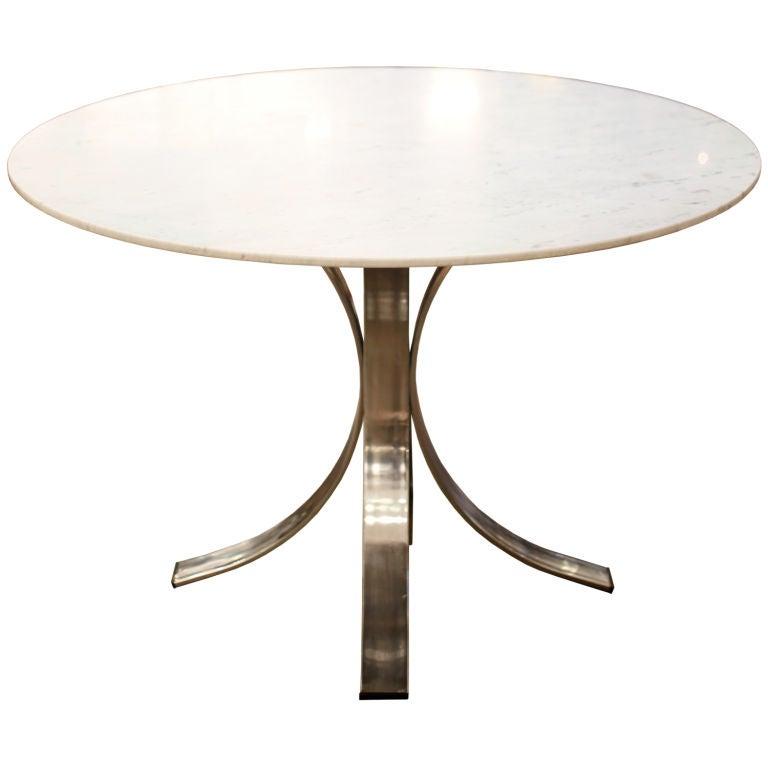 Italian Chrome and Carrara Marble Table at 1stdibs : 859513240602901 from www.1stdibs.com size 768 x 768 jpeg 24kB