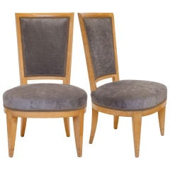 French Vintage Vanity Chairs Attributed to Andre Arbus