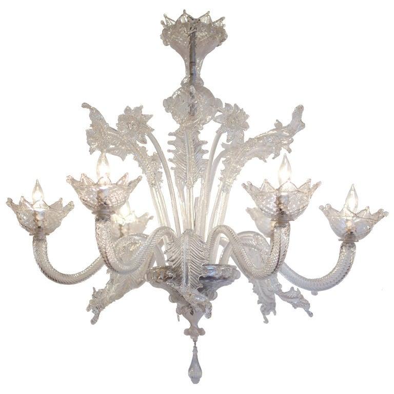 Antique Seguso Murano Glass Chandelier