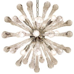 "Murano Glass and Chrome ""Sputnik"" Chandelier"