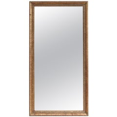 French Antique Gold Leaf Rectangular Mirror