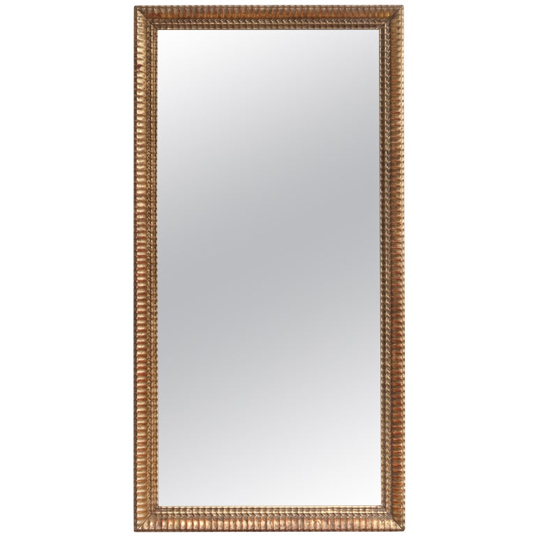 French Antique Gold Leaf Rectangular Mirror At 1stdibs