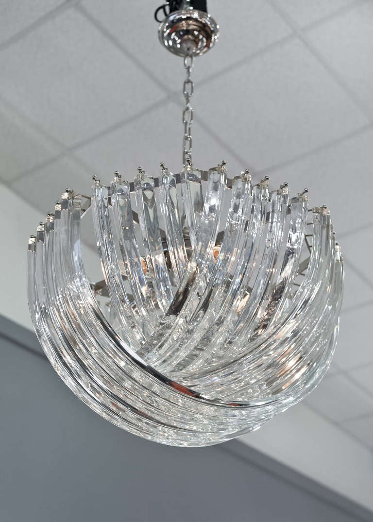 Murano Glass Chandelier By Venini For Sale At 1stdibs