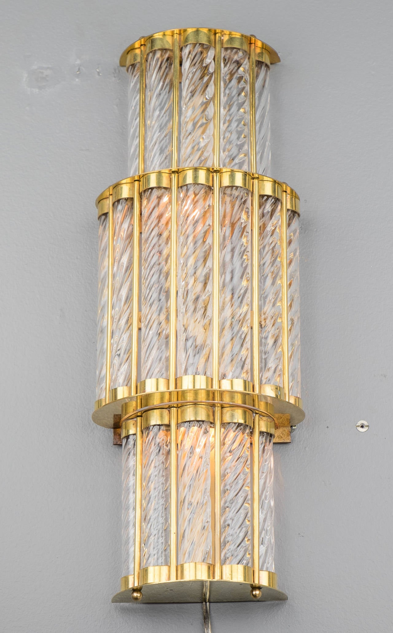 Art Deco Inspired Wall Sconces : Art Deco Style Murano Wall Sconces at 1stdibs