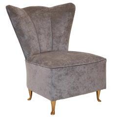 Vintage Italian Upholstered Vanity Chair